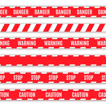 background csi: Set of warning tapes  Vector illustration