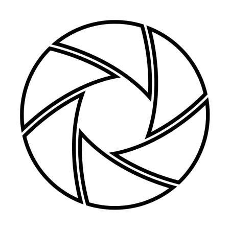 diaphragm: Vector illustration of camera shutter, isolated on white background  Vector illustration