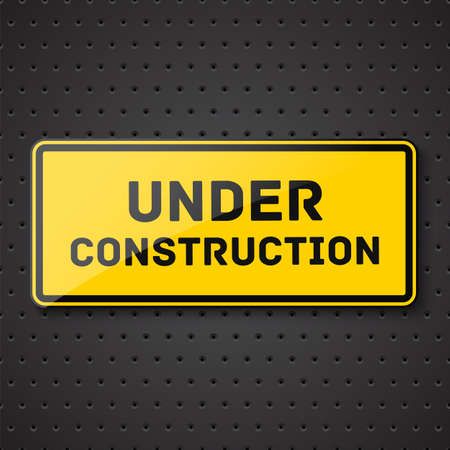 vector sign under construction: Under construction sign  Vector illustration Illustration