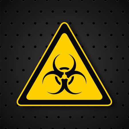 biohazard: Symbole Biohazard sur fond sombre