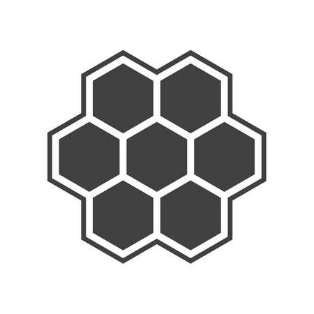 Illustration of hexagon icon Vector