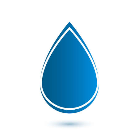 Abstract drop icon illustration Vector