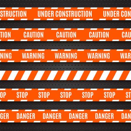 csi: Set of warning tapes illustration