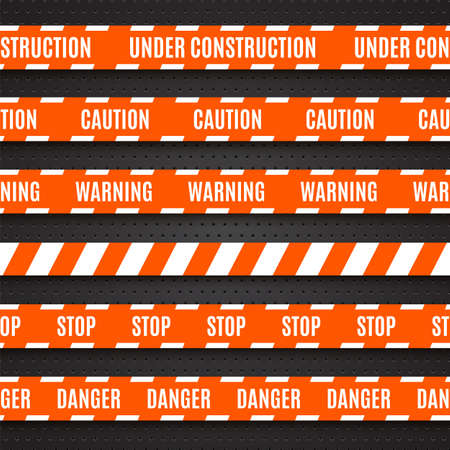 Set of warning tapes illustration