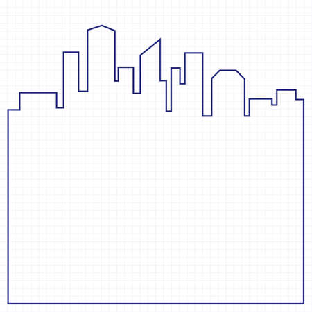 city background: Abstract city background illustration