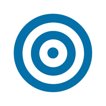 Blue target icon illustration Vector
