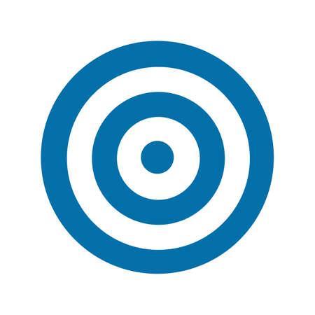 Blue target icon illustration