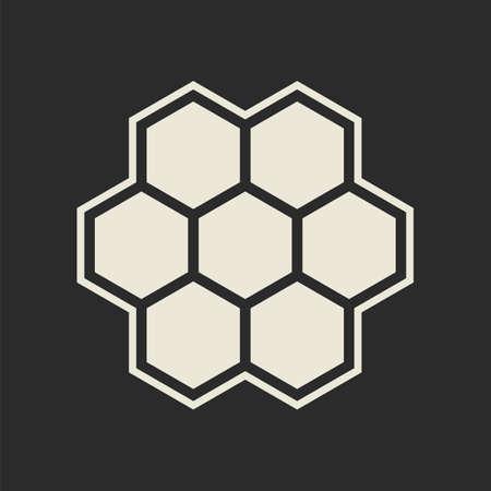 Hexagon icon  Honeycomb illustration Vector