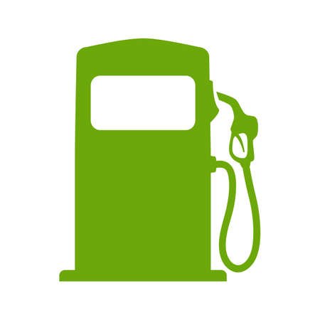 緑の燃料ポンプの図  イラスト・ベクター素材