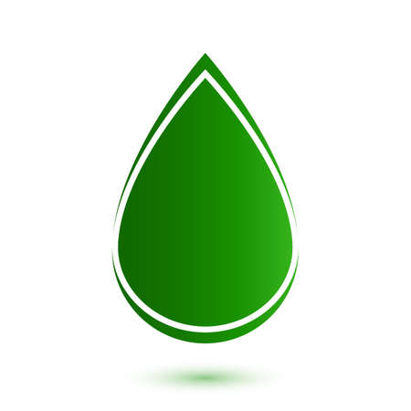 bio fuel: Abstract drop icon  Vector illustration Illustration