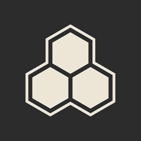 Honey comb: Hexagon icon  Honeycomb  Vector illustration Illustration
