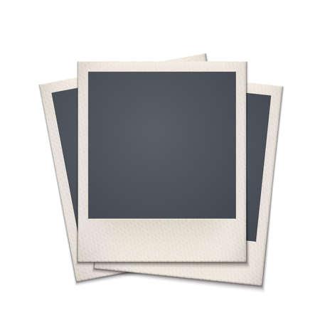 boarder: Blank retro photo frame  Vintage  Vector illustration Illustration
