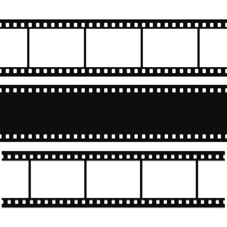 Blank simple film strip set  Vector illustration Ilustração