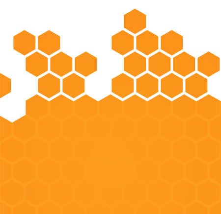 Abstract hexagonal honeycomb background  Vector illustration Ilustração