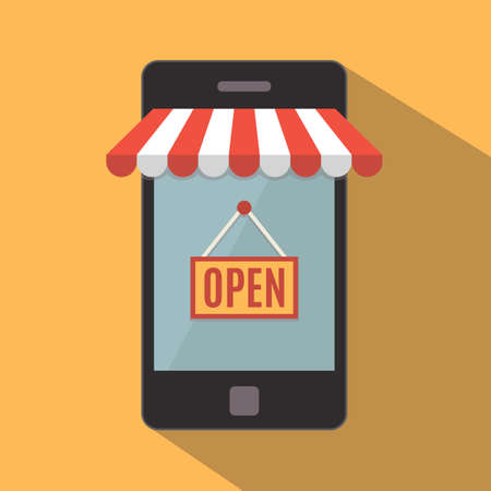 e store: Mobile phone  Online store concept