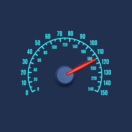 high speed: Speedometer simple icon