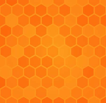 Honey comb: Abstract hexagonal honeycomb background Illustration
