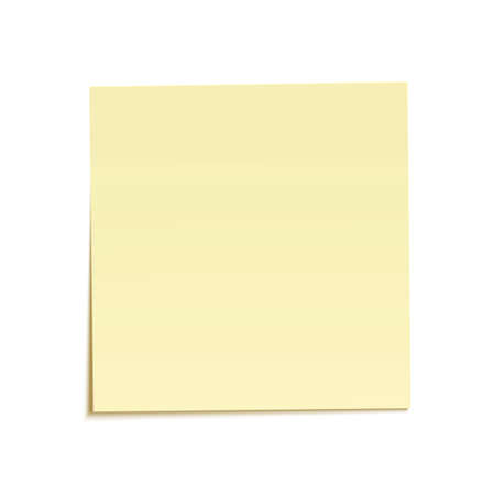 sticky notes: Yellow sticky note isolated on white background