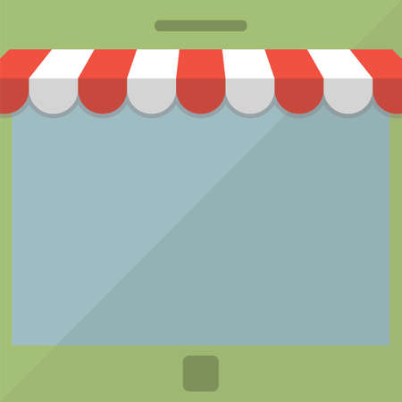 e store: Abstract background  Online store concept Illustration