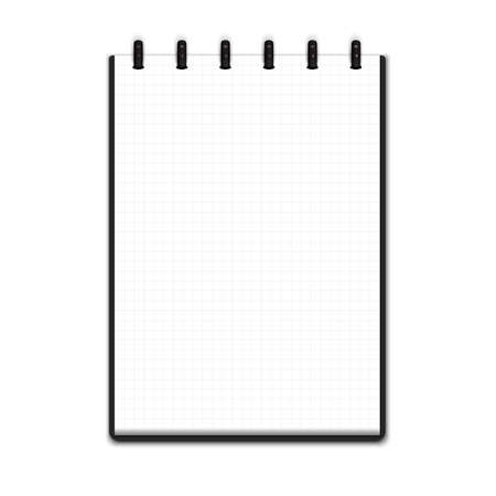 squared: Realistic blank notepad Illustration
