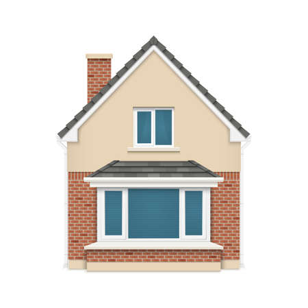 Detailed house icon isolated on white background  Vector illustration