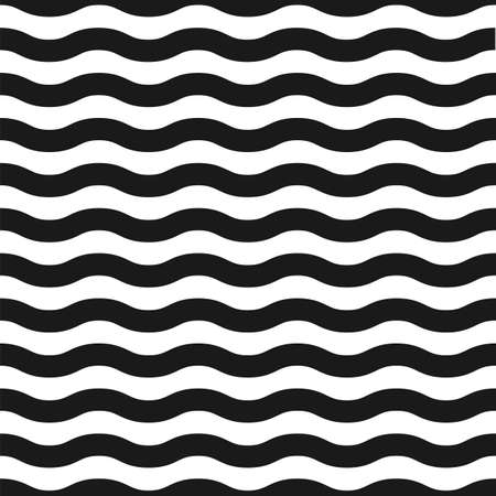 white wave: Seamless black and white wave pattern  Vector illustration