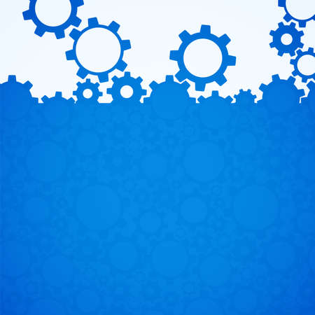 Abstract blue simple gear background.  Illustration