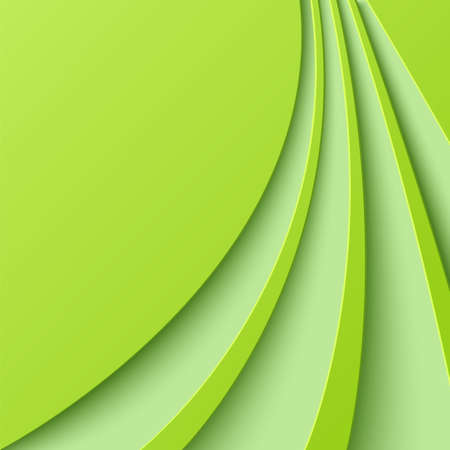 curved lines: Abstract green background with curved lines.  Illustration