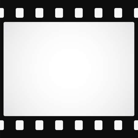 간단한 검은 색 필름 스트립