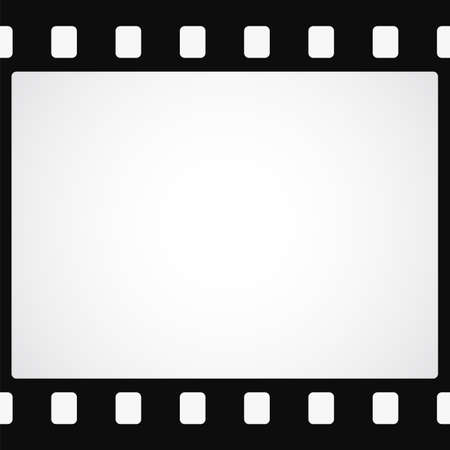 Simple black film strip  Stock Illustratie