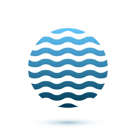 Abstract wavy round conceptual icon, sphere. Perfect for your company logo or presentations. Vector illustration Vector