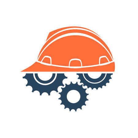CONSTRUCTION LOGO: Construction conceptual logo. Perfect for your presentation, background, brochures and banners