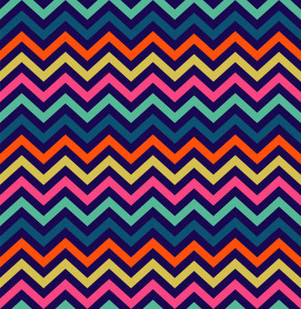 Colorful zigzag simple seamless pattern.  Illustration
