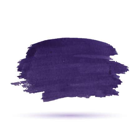 daub: Purple watercolor stripe isolated on white background. Illustration
