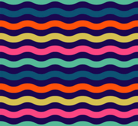sea waves: Seamless colorful wave pattern. Lines. Vector illustration