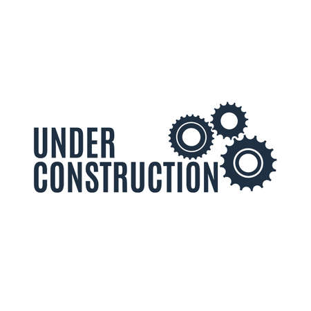 under construction icon: Simple under construction icon isolated on white background. Vector illustration