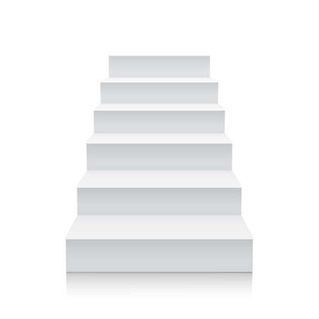 stage chart: Stairs isolated on white background. Steps. Vector illustration