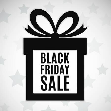 negro: Ofertas de viernes negro de fondo. Icono de regalo. Ilustración vectorial