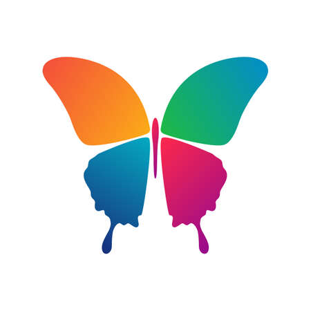 Mariposa simple icono conceptual. Logo. Ilustración vectorial Logos