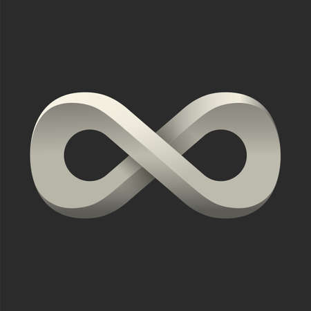 Infinity symbol. Conceptual icon. Logo template. Vector illustration Vector