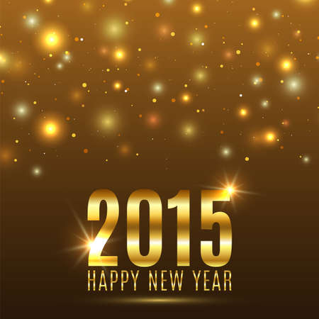 a holiday greeting: Happy New Year 2015 celebration background. Vector illustration