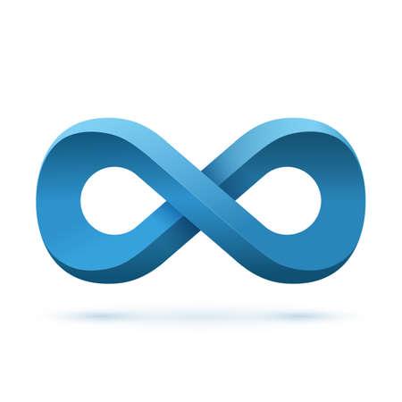 Blue infinity symbol. Conceptual icon. Logo template. Vector illustration