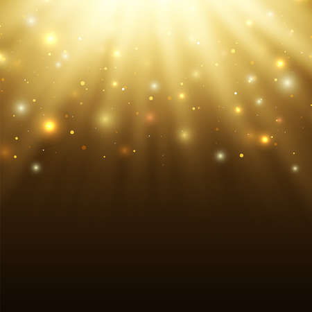 Abstract celebration background with particles and rays.Perfect tamplete for your projects. Vector illustration