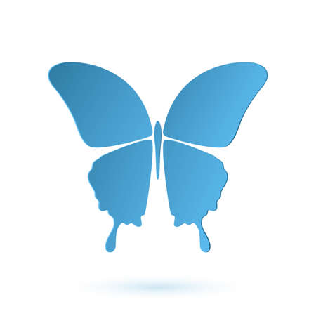 simple logo: Butterfly simple conceptual icon. Logo. Vector illustration Illustration