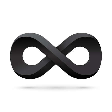 infinity symbol: Black infinity symbol. Conceptual icon. Vector illustration Illustration