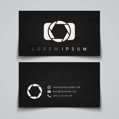 Business card template.  Vector