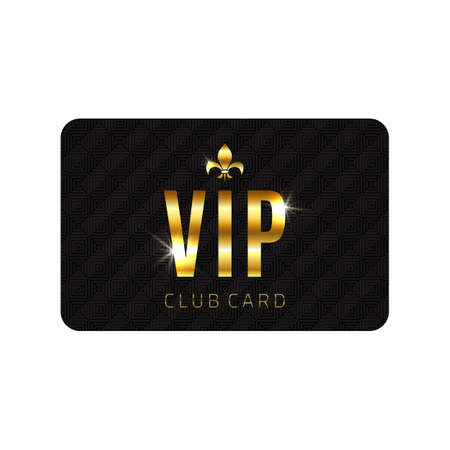VIP card template, isolated on white background. Vector illustration Vector