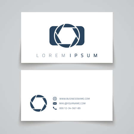 photographers: Business card template. Camera concept Vector illustration Illustration