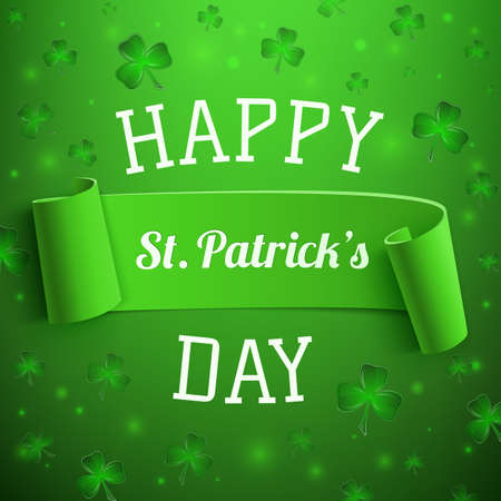 Saint Patricks Day greeting card. Background template. Vector illustration Vector