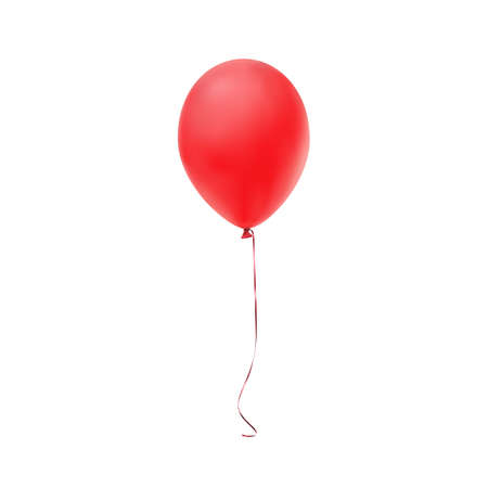 Red balloon icon isolated on white background. Vector illustration Illustration